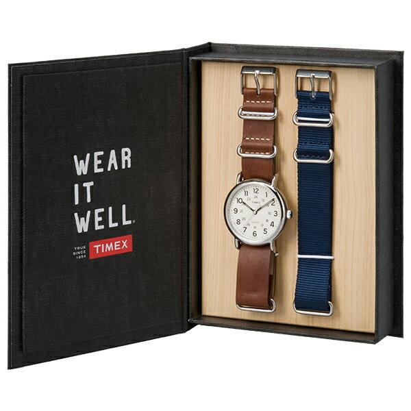 TIMEX/天美時 Weekender 復刻系列 男錶 女錶 手錶/TXTG012500 禮盒 送帆布錶帶