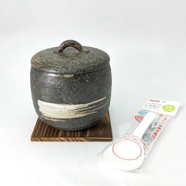 日本陶瓷【伊賀燒】刷毛目微波炊飯鍋 日本職人Yamamoto山本先生手作 土鍋 砂鍋 陶鍋 煮飯鍋