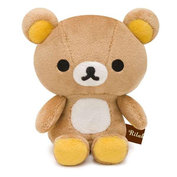 【真愛日本】 9072800006   絲絨娃娃SS-懶熊  SAN-X 懶懶熊 牛奶熊 拉拉熊玩偶 絨毛娃娃 正版