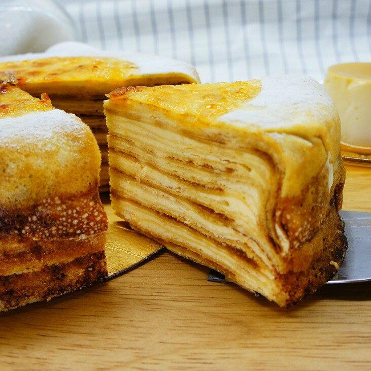 【蕉研食嚥室】焦糖布丁千層蛋糕6吋甜點蛋糕