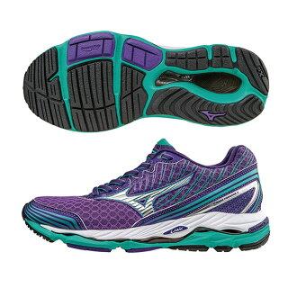 扁平足專用鞋款 WAVE PARADOX 2 WIDE (W) 女慢跑鞋 J1GD154004(紫X銀)S【美津濃MIZUNO】
