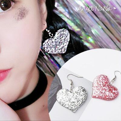 AngelNaNa:耳環《可改夾式》《可改S925銀針》萌萌彩色愛心星星閃亮耳鈎【RA0056】