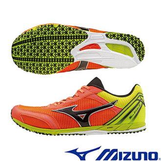 U1GD162010(橘X黑X黃)日本同步WAVE EKIDEN 11 馬拉松鞋 A【美津濃MIZUNO】