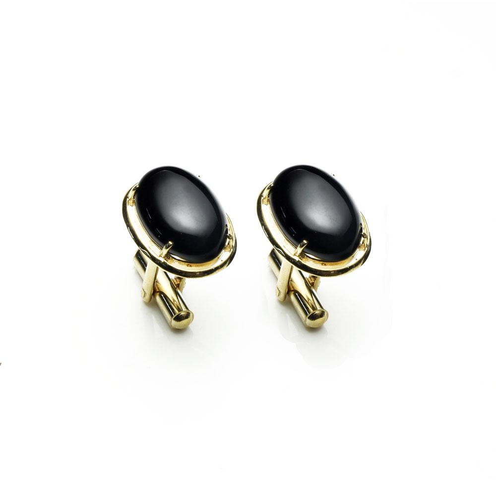 大東山珠寶 極簡黑 仕紳系列 黑瑪瑙  西裝領徽 袖扣 1