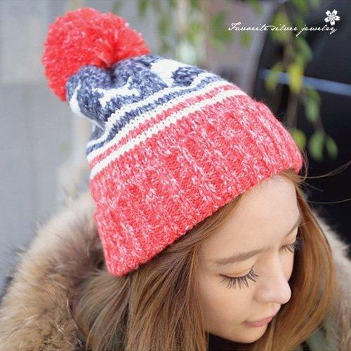 五角星造型毛帽10166【櫻桃飾品】【10166】