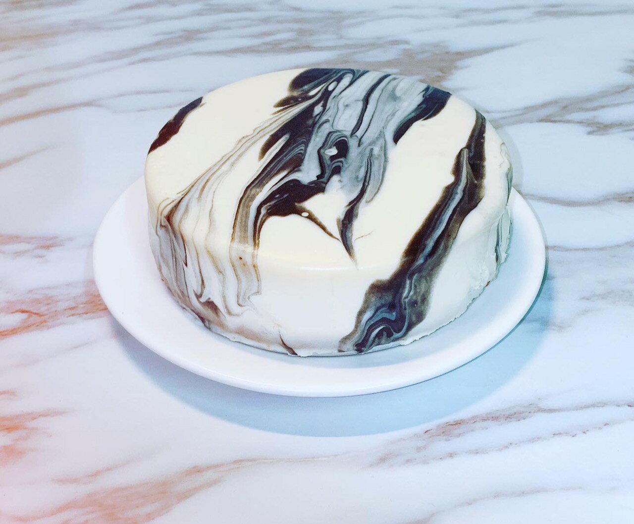 大理石重乳酪蛋糕 6吋 生日蛋糕 情人節蛋糕 重乳酪蛋糕 蛋糕 《給朕過來》