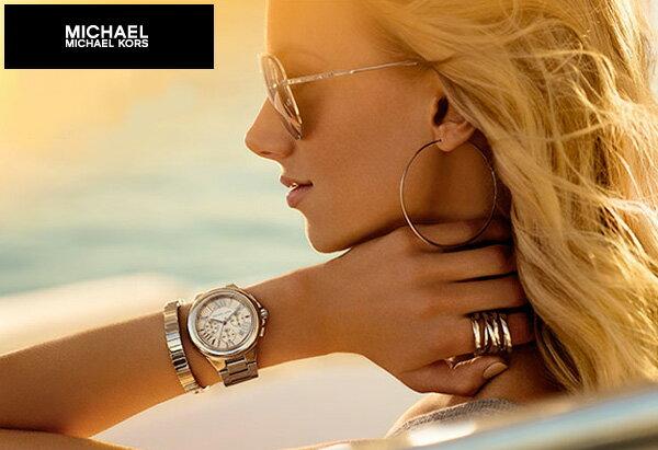 【限時8折 全店滿5000再9折】Michael Kors MK 玫瑰金熱吻巴黎三環計時手錶腕錶 MK5799 美國Outlet 正品代購 4