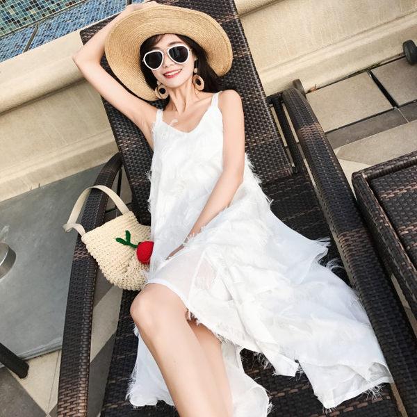 PS Mall 海島海灘長裙海邊度假裙 連身裙 洋裝【T045】 0
