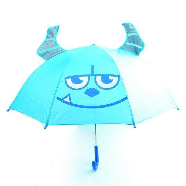 【真愛日本】15090500018直傘47cm-毛怪藍  迪士尼 怪獸電力公司 怪獸大學  直傘  雨傘  雨具