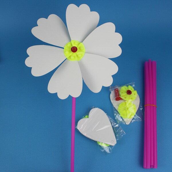 空白風車 DIY風車 彩繪風車 空白紙風車 (大/六片紙) 促[#20] 5693 4135