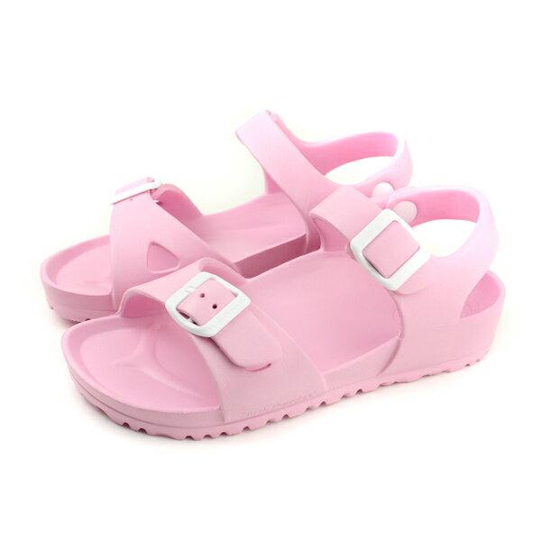 【買鞋贈送收納袋】【數量有限送完為止】HushPuppies涼鞋勃肯鞋粉紅色女鞋6182U180247no145