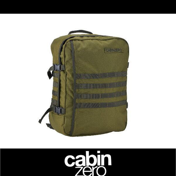 CABIN ZERO 161-CZ091403 橫條 輕量44L後背包 登機 假期 公事 手提 軍事版 可上密碼鎖 國際背包身分證 軍綠色 萬特戶外運動