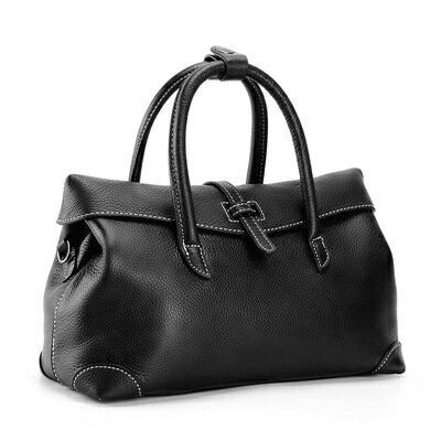肩背包真皮手提包-大容量純色牛皮通勤女包包2色73ut46【獨家進口】【米蘭精品】 2