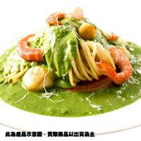 【金品】青醬干貝鮮蝦焗麵(360g)