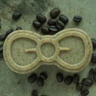 【愛茉漂兒手作皂坊】咖啡玫瑰鹽磨砂皂 溫和天然顆粒手工皂 啾啾皂單顆禮盒款 100g