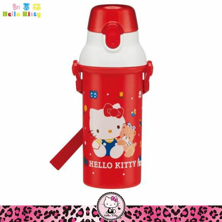 凱蒂貓 Hello Kitty 彈蓋直飲式水壺 直飲式 冷水壺 冷飲壺 彈蓋水壺 日本進口正版 359668