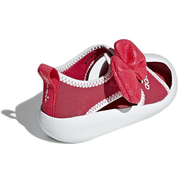 Shoestw【F35866】ADIDAS 涼鞋 AltaVenture Minnie 運動涼鞋 護趾涼鞋 童鞋 中童鞋 黏帶 迪士尼 米妮 蝴蝶結 桃紅白 3