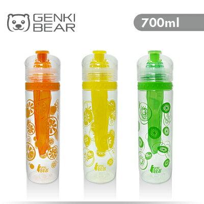 GENKI BEAR 純鮮Tritan活力瓶/水壺 700ml 3色可選 聖誕交換禮物推薦