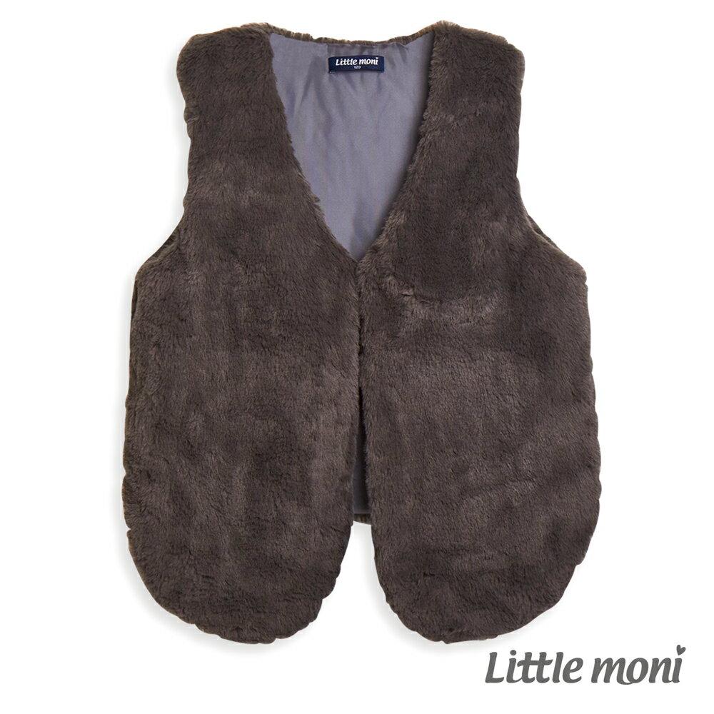 Little moni 毛毛造型背心-鐵灰(好窩生活節) 0