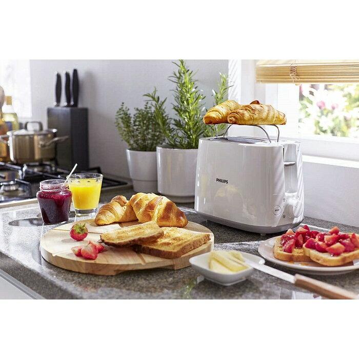 飛利浦電子智慧型厚片烤麵包機-白色 4