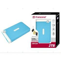 創見 Transcend 2TB USB3.0 StoreJet 25M3隨身硬碟(水藍色) 產品型號: TS2TSJ25M3B