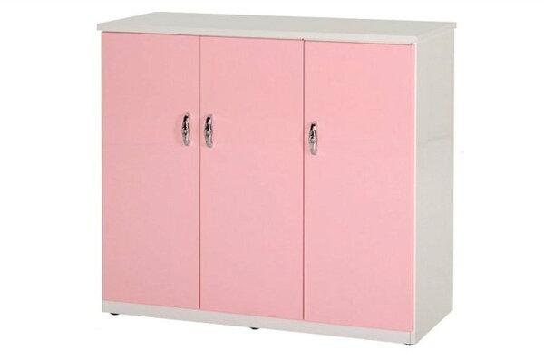 【石川家居】857-04(粉紅白色)鞋櫃(CT-315)#訂製預購款式#環保塑鋼P無毒防霉易清潔