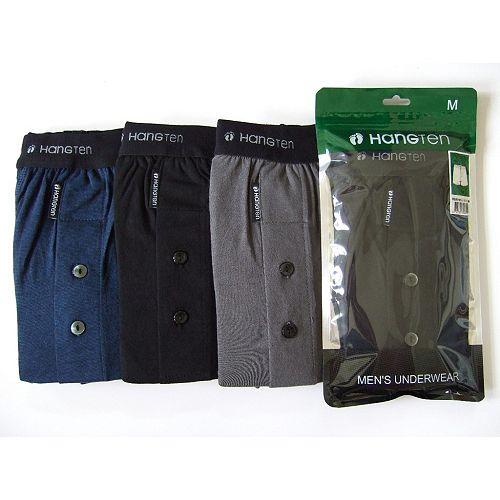 HANG TEN精梳棉針織五片式平口褲(XL)【愛買】