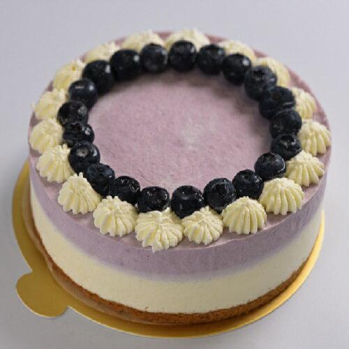 低醣藍莓雙色慕斯蛋糕 8吋