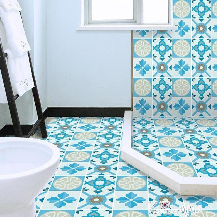衛生間地貼防滑防水耐磨浴室廁所地面裝飾翻新地板貼自粘瓷磚貼紙
