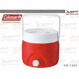 【速捷戶外露營】【美國Coleman】7.6L可堆疊飲料冰桶 保冷桶保冰桶飲料筒 CM-1362(紅)