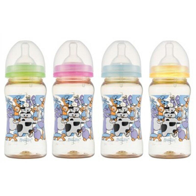貝喜力克 防脹氣PPSU寬口中奶瓶 240ML / M D379【德芳保健藥妝】 0