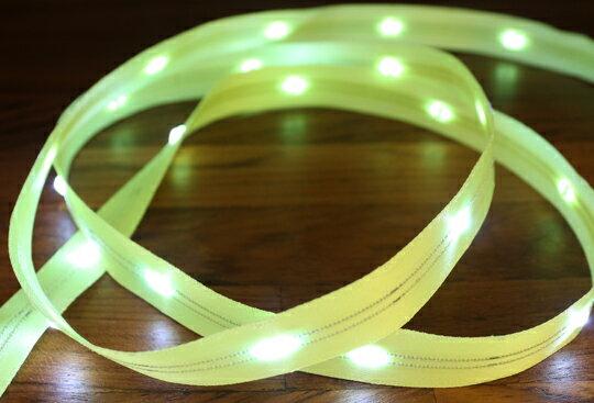 LiTex LED寬版緞帶15mm-白燈系列-中間燈(12色緞帶可選擇) 8