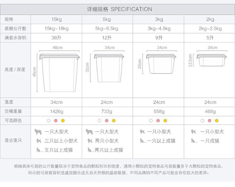 ☆寵愛家☆CATIDEA貓樂適 寵物儲糧桶,飼料桶-5kg