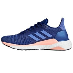 【adidas 愛迪達】慢跑鞋 Solar Glide W 女鞋 愛迪達 跑鞋 跑步 Boost 避震 藍 粉(AQ0334)