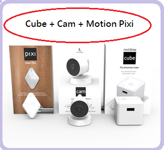 NextDrive Cube 居家安全監視組合 小方微管家照顧你的家 體驗「輕雲端」生活