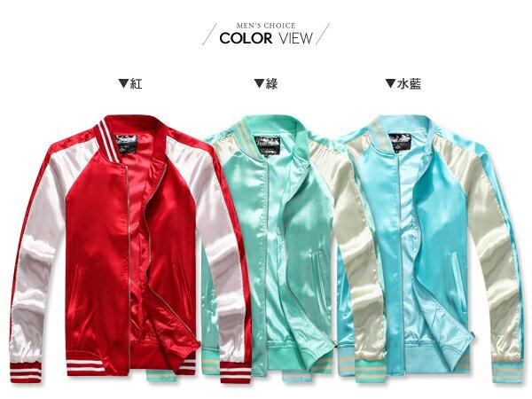 ☆BOY-2☆【PPK88027】韓版街頭緞面質感棒球外套 2