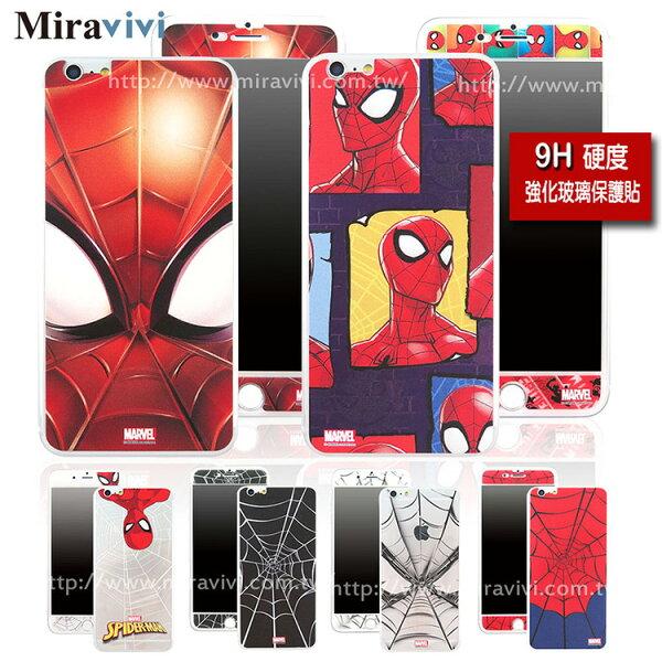 Miravivi:MARVEL蜘蛛人經典版iPhone6Plus6sPlus(5.5吋)雙面強化玻璃彩繪保護貼