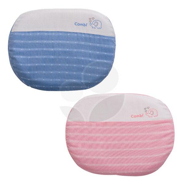 Combi康貝輕柔感-和風紗透氣護頭枕-藍粉【悅兒園婦幼生活館】