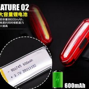 美麗大街【ML106092603】紅藍光自行車尾燈USB充電警示燈