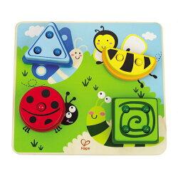 【淘氣寶寶】德國Hape愛傑卡 拼圖系列-昆蟲形狀配對.認知配對.2歲以上.新品登場