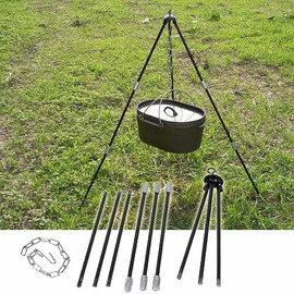 【速捷戶外露營】《MAGIC》 RV-IRON 004 美式荷蘭鍋架 超便利焚火三腳架/吊鍋架