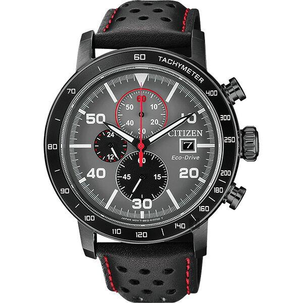 富茂鐘錶 CITIZEN Eco-Drive 光動能賽車計時碼錶 43mm /  CA0645-15H