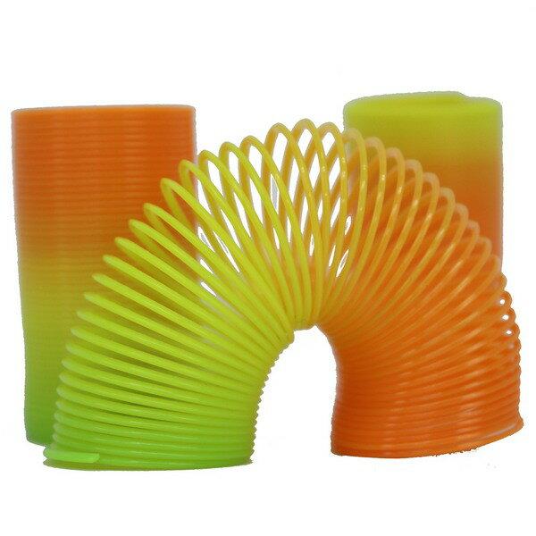 彈簧圈小長妙妙圈彩虹圈童玩一大袋60個入{促10}彩色塑料~CF60046