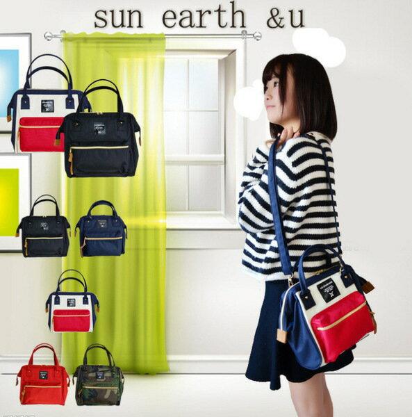 *vivi shop*-特惠出清出口日本款sun earth&u斜跨肩包 斜背包 單肩包 手提包 外貿單2WAY兩用包 女包