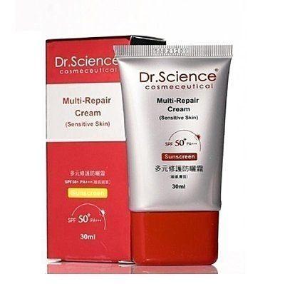 【寶齡Dr.Science】多元修護防曬霜SPF50+PA+++30ml全新盒裝效期202001【淨妍美肌】