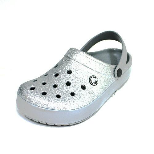 免運Crocs卡駱馳中性鞋涼拖鞋洞洞鞋鱷魚鞋205419-040亮粉銀{陽光樂活}