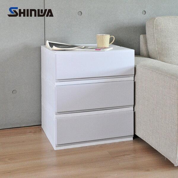 【nicegoods】日本製Shinwa伸和單層抽屜收納箱32L-3入-DIY