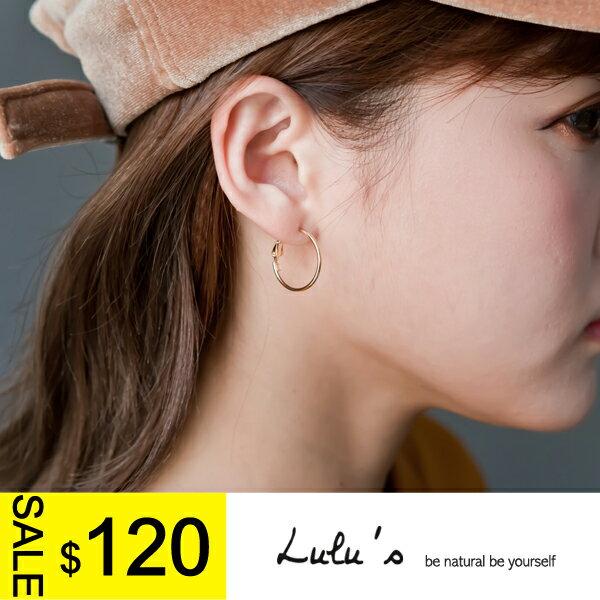 LULUS-N韓製-簡單百搭小圓圈耳環-2色  現+預【08060110】