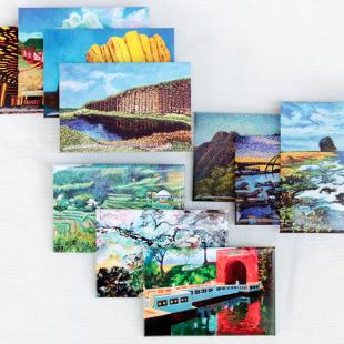 免運!!畫作磁鐵 ( 一組10款) 身障畫家們透過畫作表達自己對台灣這片土地的愛