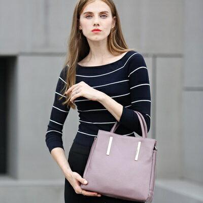 手提包真皮肩背包-歐美時尚高雅百搭女包5色73md74【獨家進口】【米蘭精品】